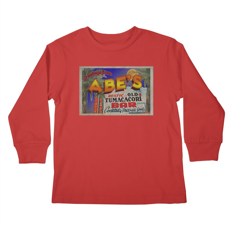Abe's Old Tumacacori Bar Kids Longsleeve T-Shirt by Nuttshaw Studios