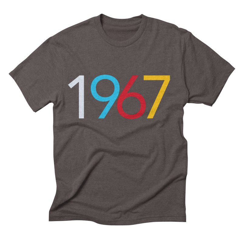 1967 Men's Triblend T-Shirt by Nuttshaw Studios