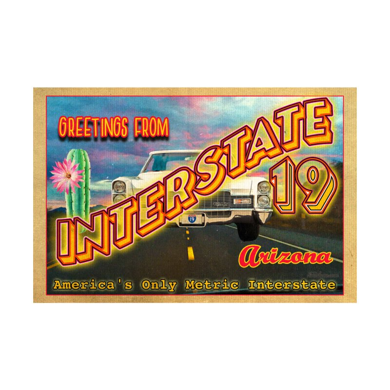Interstate 19 Arizona Men's T-Shirt by Nuttshaw Studios