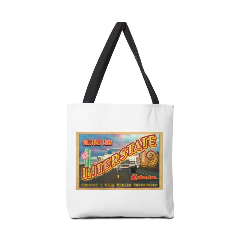 Interstate 19 Arizona Accessories Tote Bag Bag by Nuttshaw Studios