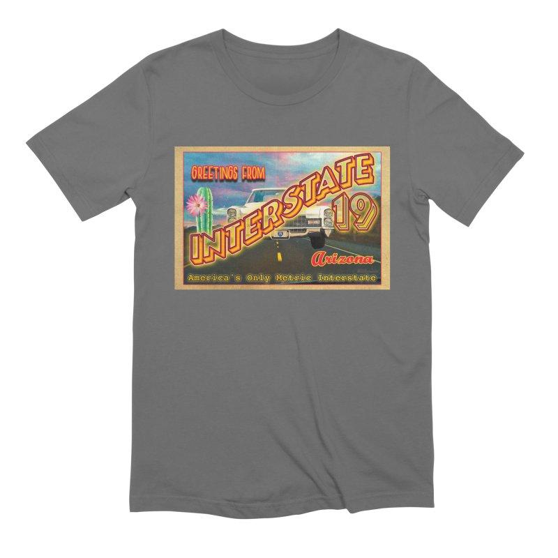 Interstate 19 Arizona Men's Extra Soft T-Shirt by Nuttshaw Studios