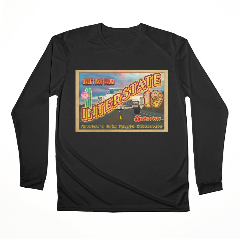 Interstate 19 Arizona Men's Performance Longsleeve T-Shirt by Nuttshaw Studios
