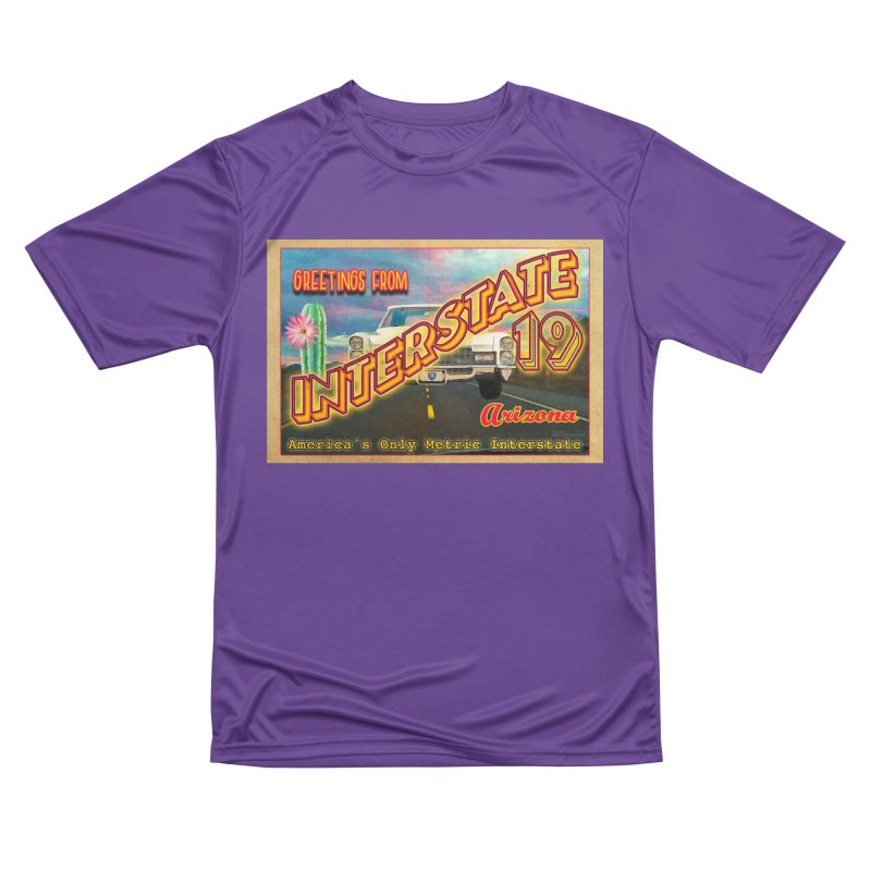 Interstate 19 Arizona Men's Performance T-Shirt by Nuttshaw Studios