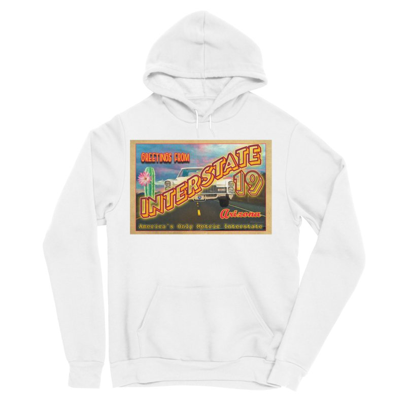Interstate 19 Arizona Men's Sponge Fleece Pullover Hoody by Nuttshaw Studios