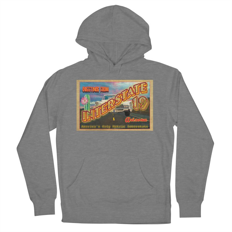 Interstate 19 Arizona Men's French Terry Pullover Hoody by Nuttshaw Studios