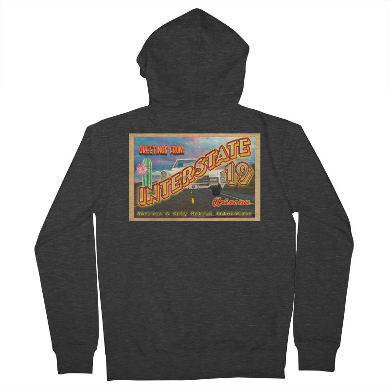Interstate 19 Arizona Women's French Terry Zip-Up Hoody by Nuttshaw Studios