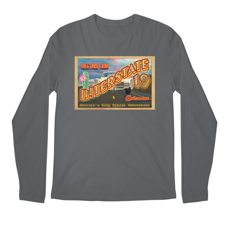 Interstate 19 Arizona Men's Longsleeve T-Shirt by Nuttshaw Studios