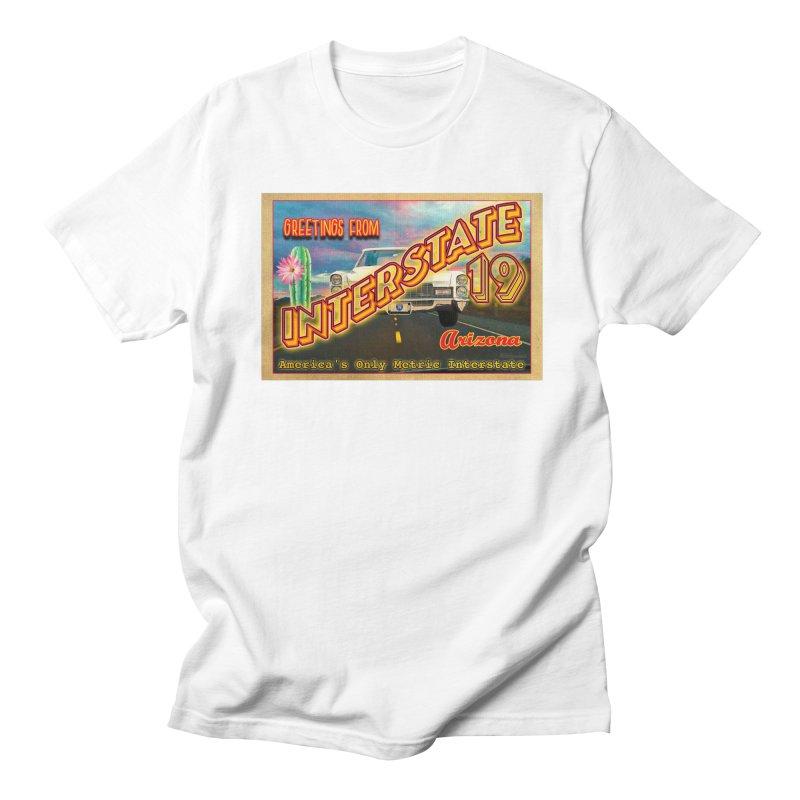 Interstate 19 Arizona Men's Regular T-Shirt by Nuttshaw Studios