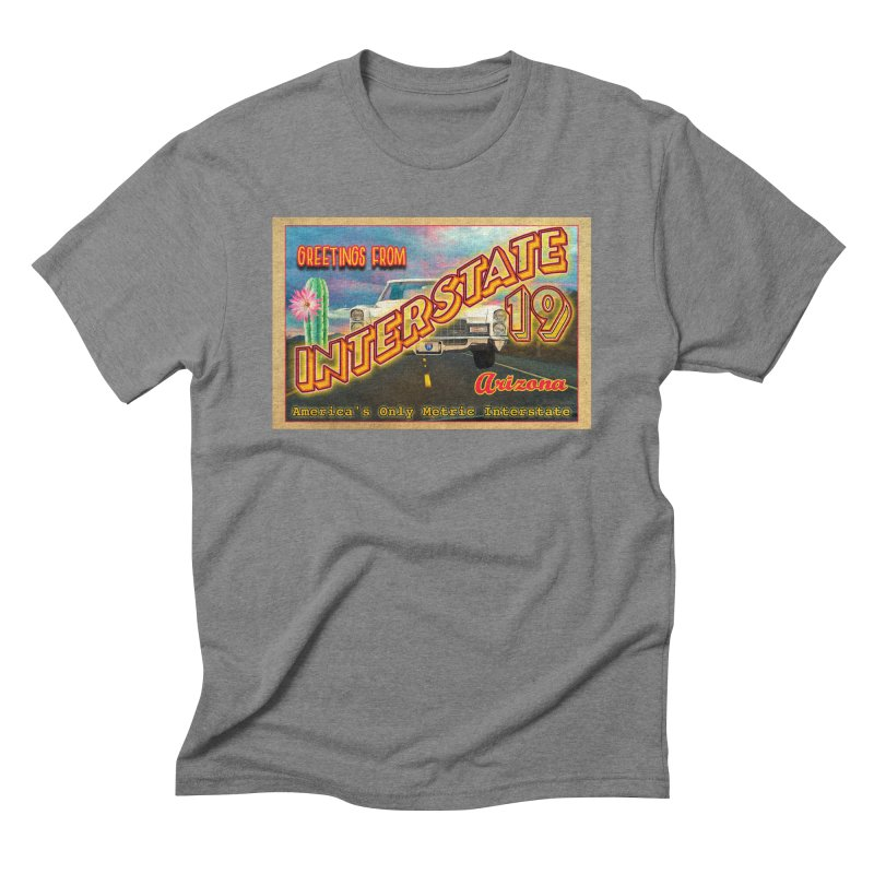 Interstate 19 Arizona Men's Triblend T-Shirt by Nuttshaw Studios