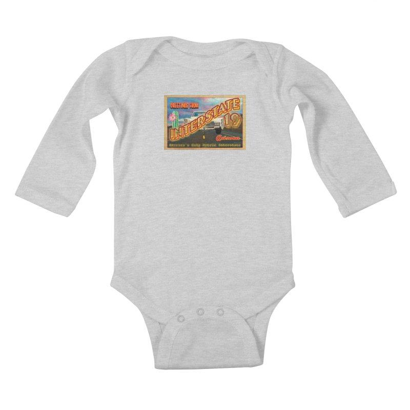 Interstate 19 Arizona Kids Baby Longsleeve Bodysuit by Nuttshaw Studios