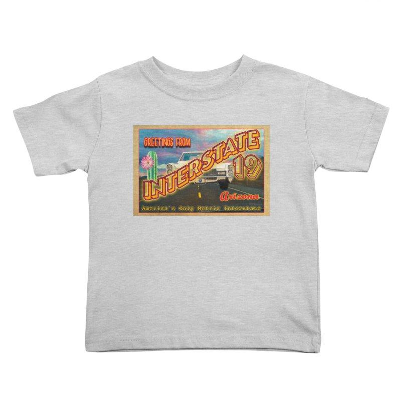 Interstate 19 Arizona Kids Toddler T-Shirt by Nuttshaw Studios