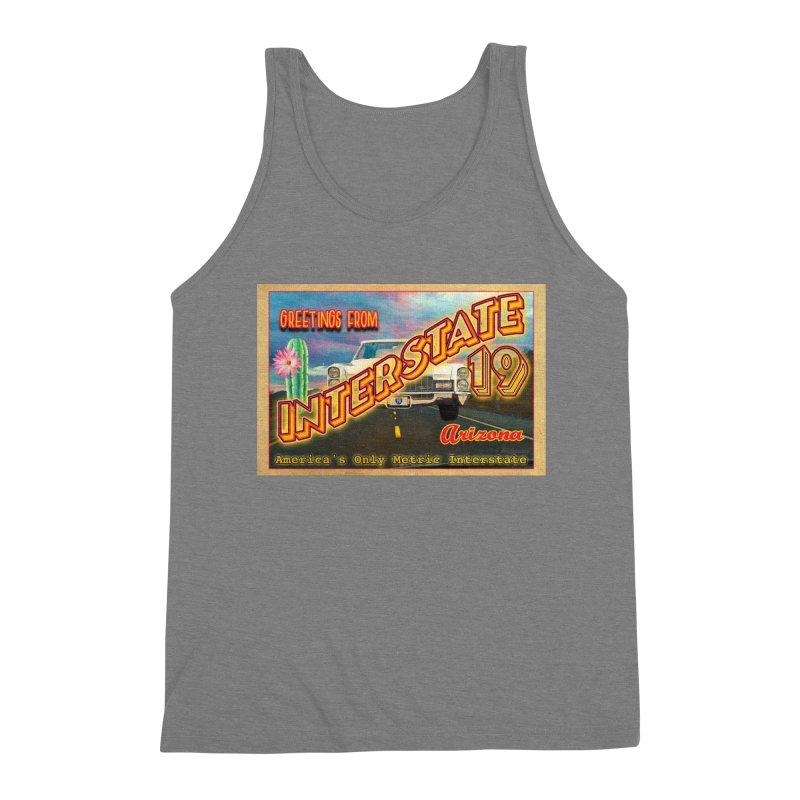 Interstate 19 Arizona Men's Triblend Tank by Nuttshaw Studios