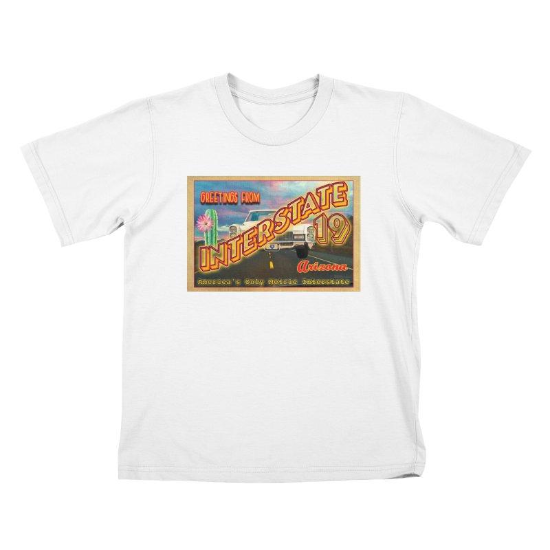 Interstate 19 Arizona Kids T-Shirt by Nuttshaw Studios
