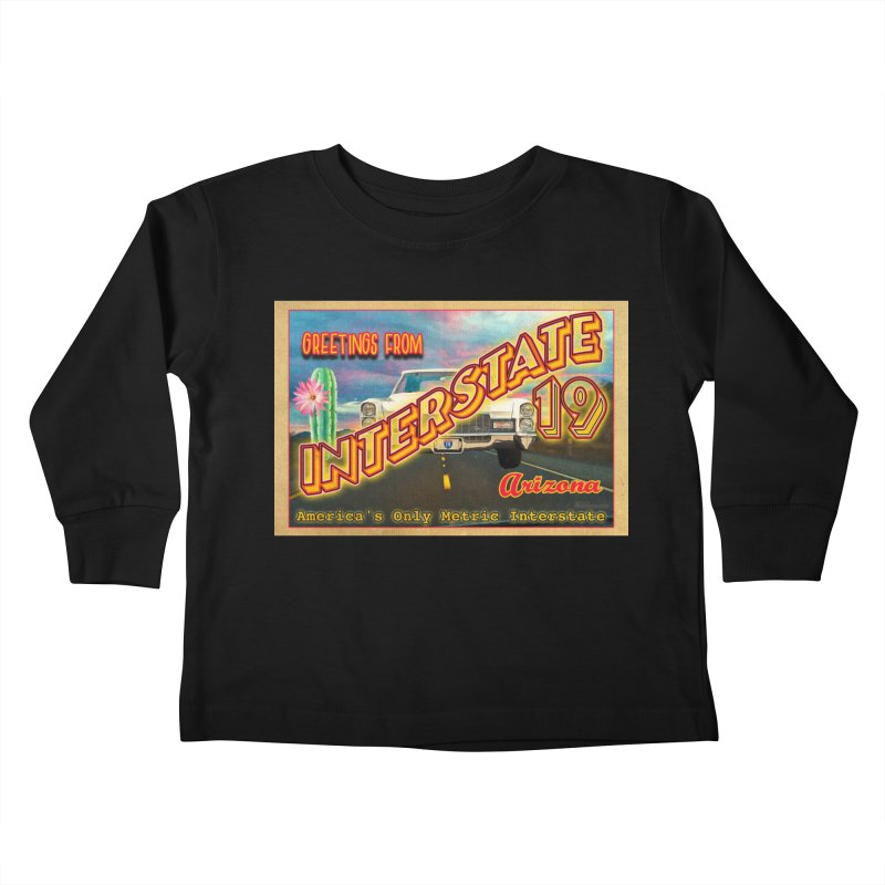Interstate 19 Arizona Kids Toddler Longsleeve T-Shirt by Nuttshaw Studios
