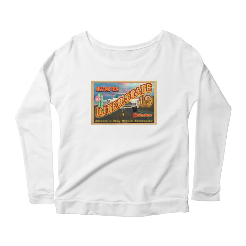 Interstate 19 Arizona Women's Scoop Neck Longsleeve T-Shirt by Nuttshaw Studios