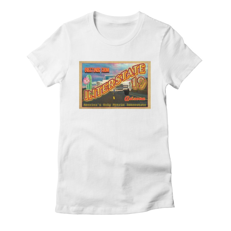 Interstate 19 Arizona Women's Fitted T-Shirt by Nuttshaw Studios