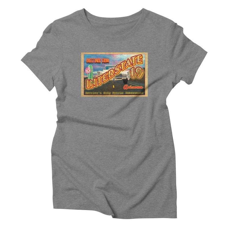 Interstate 19 Arizona Women's Triblend T-Shirt by Nuttshaw Studios