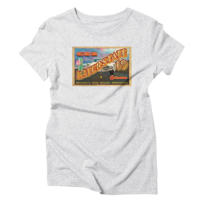 Interstate 19 Arizona Women's T-Shirt by Nuttshaw Studios