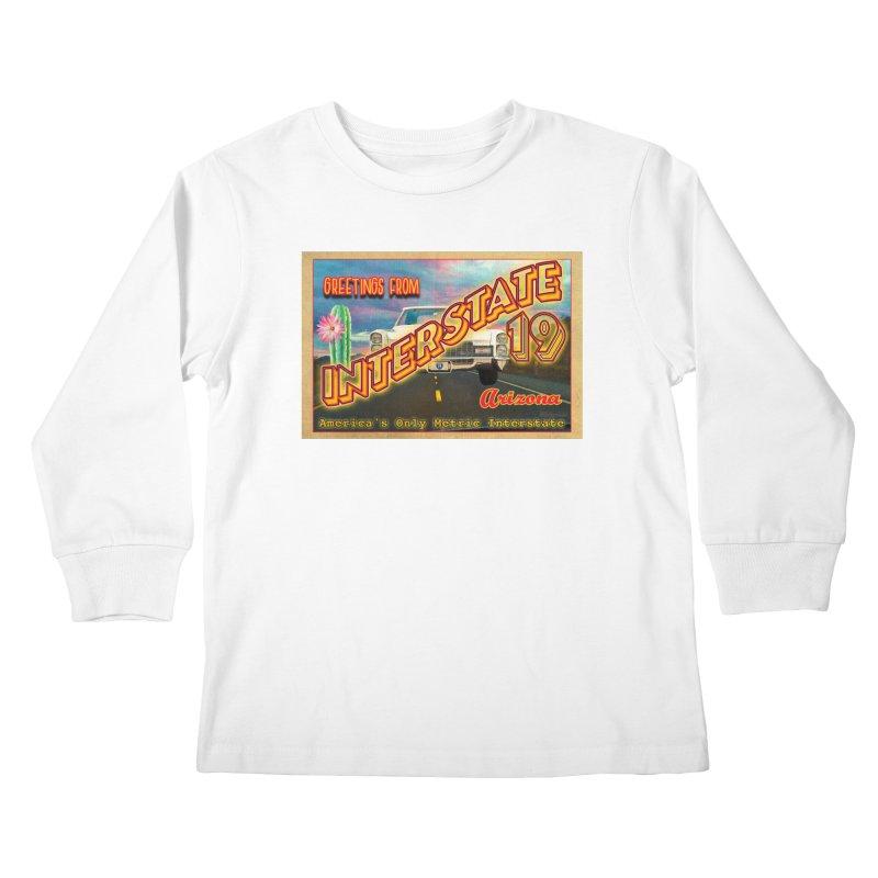 Interstate 19 Arizona Kids Longsleeve T-Shirt by Nuttshaw Studios