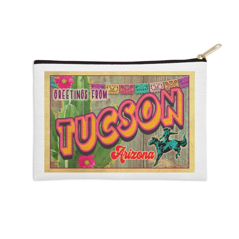 Tucson, Arizona Accessories Zip Pouch by Nuttshaw Studios
