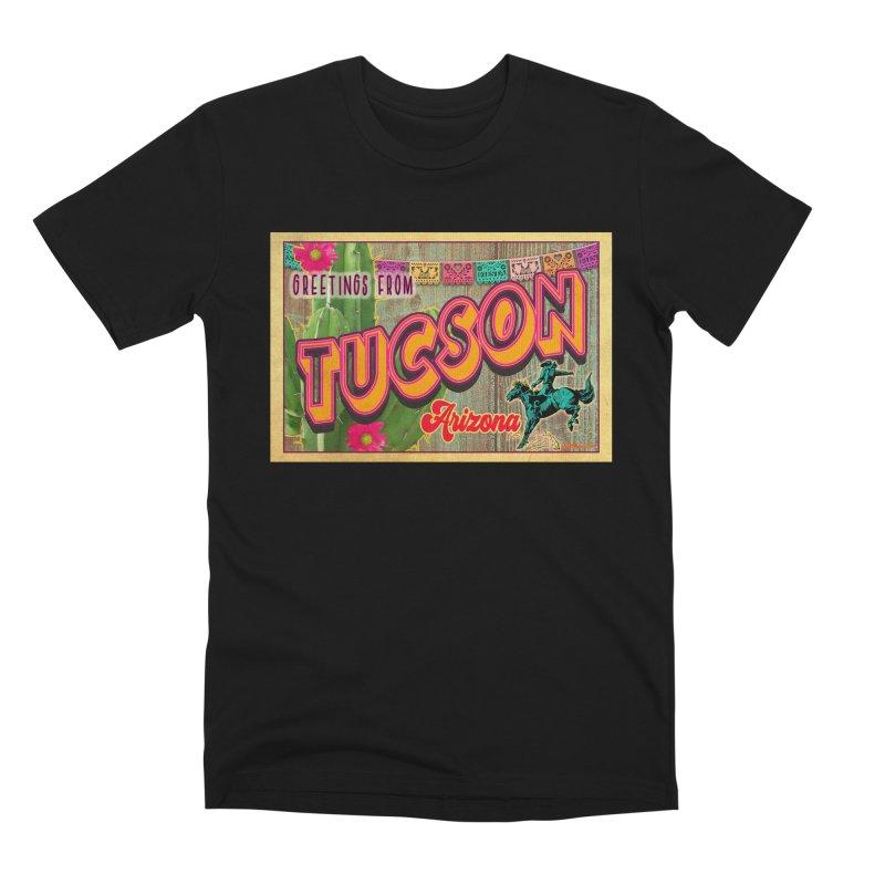 Tucson, Arizona Men's Premium T-Shirt by Nuttshaw Studios