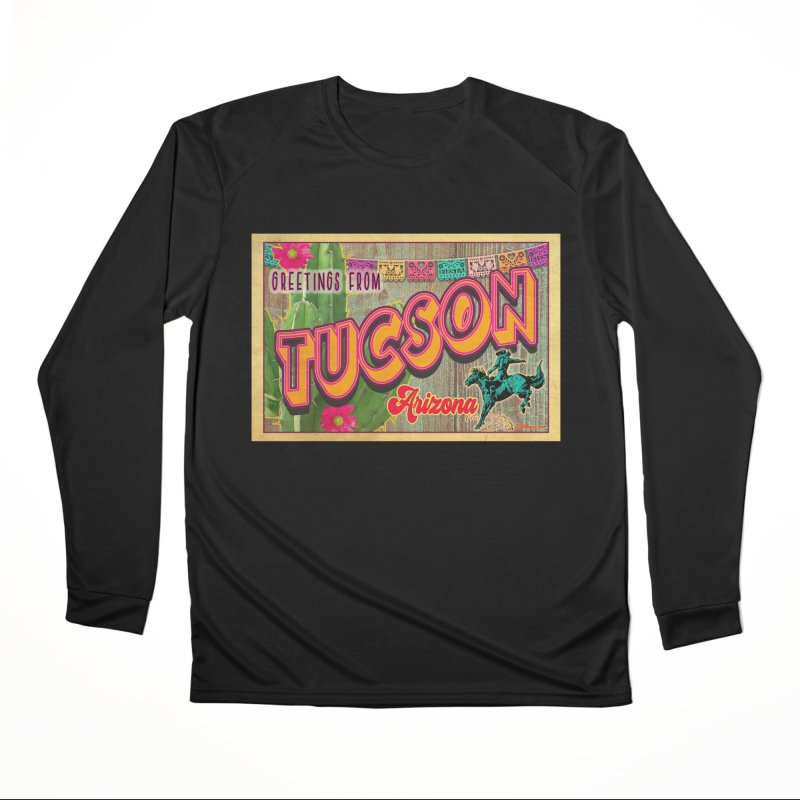 Tucson, Arizona Men's Performance Longsleeve T-Shirt by Nuttshaw Studios