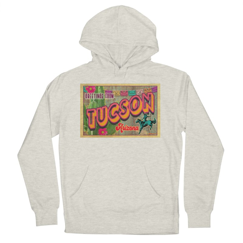 Tucson, Arizona Women's French Terry Pullover Hoody by Nuttshaw Studios