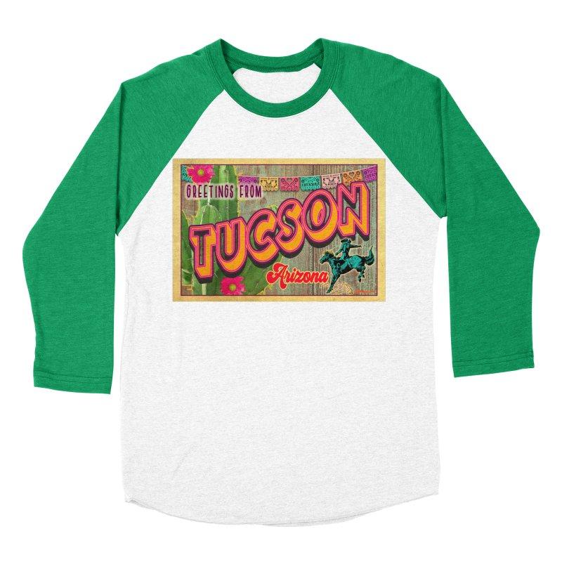 Tucson, Arizona Women's Baseball Triblend Longsleeve T-Shirt by Nuttshaw Studios