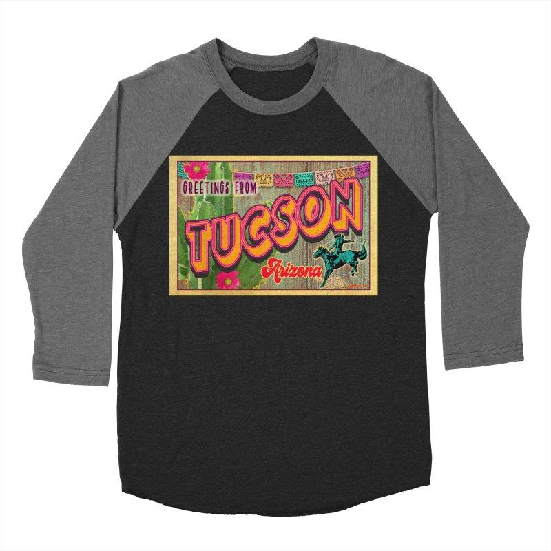 Tucson, Arizona Men's Baseball Triblend Longsleeve T-Shirt by Nuttshaw Studios