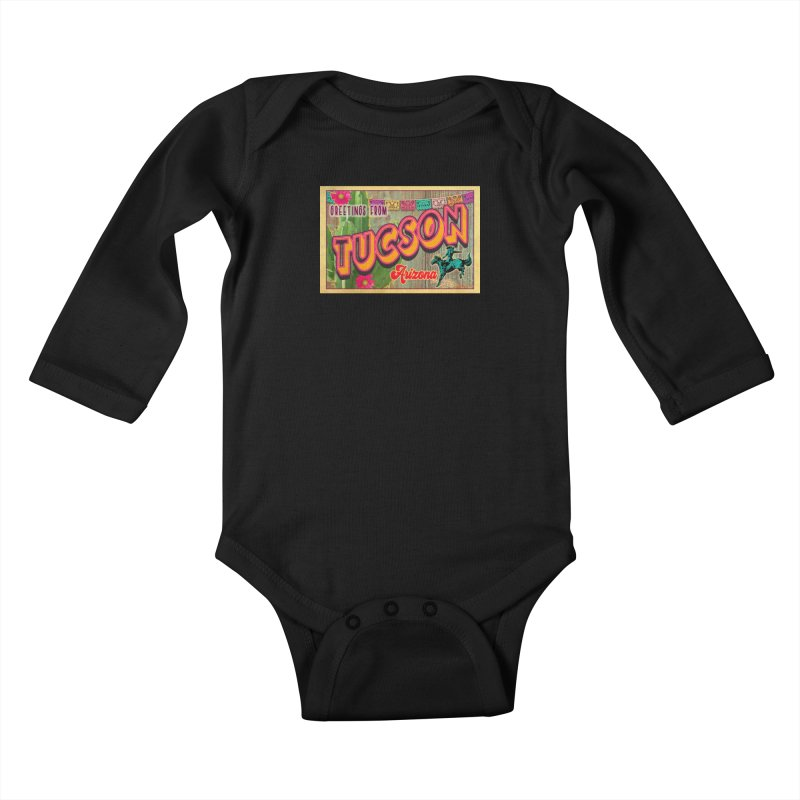 Tucson, Arizona Kids Baby Longsleeve Bodysuit by Nuttshaw Studios