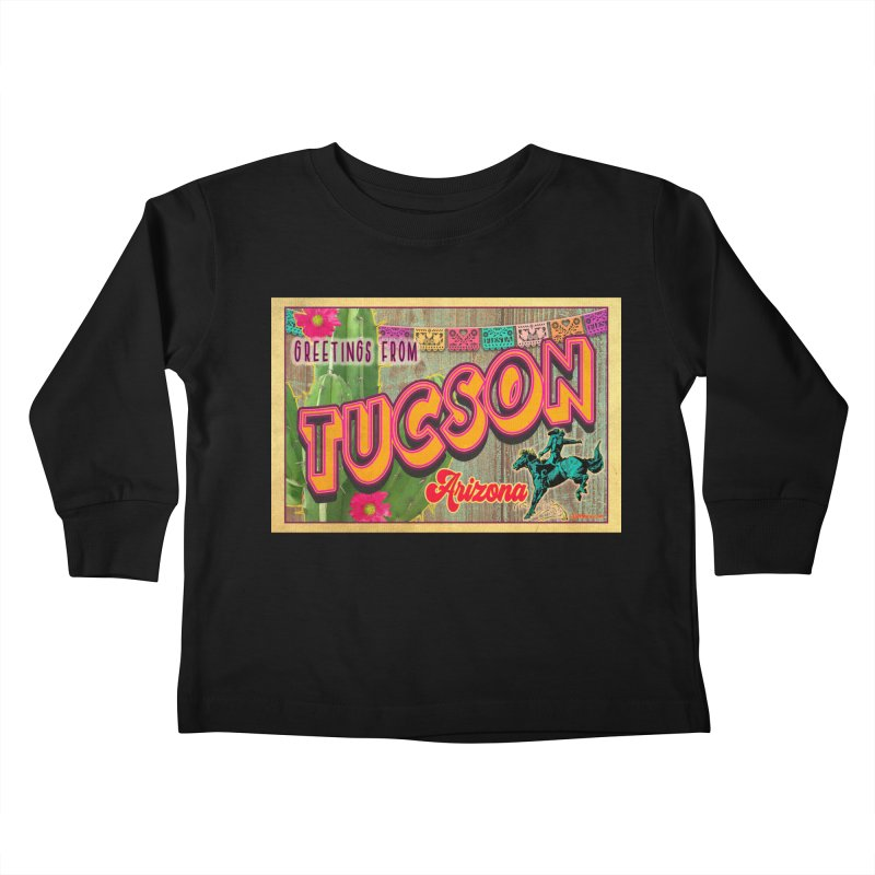Tucson, Arizona Kids Toddler Longsleeve T-Shirt by Nuttshaw Studios
