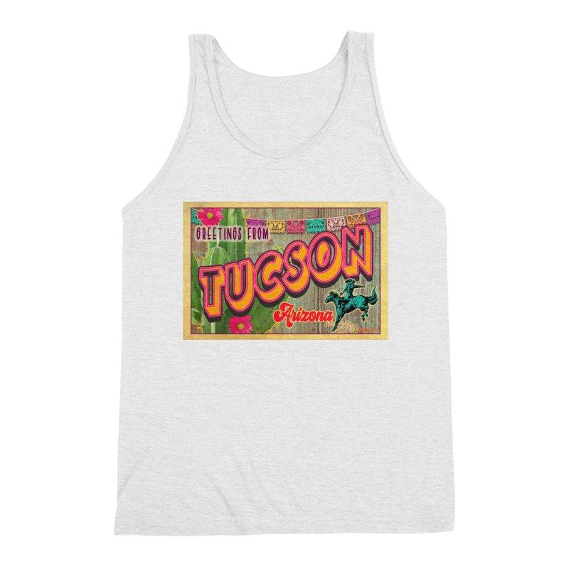 Tucson, Arizona Men's Triblend Tank by Nuttshaw Studios