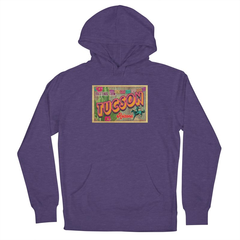 Tucson, Arizona Men's French Terry Pullover Hoody by Nuttshaw Studios