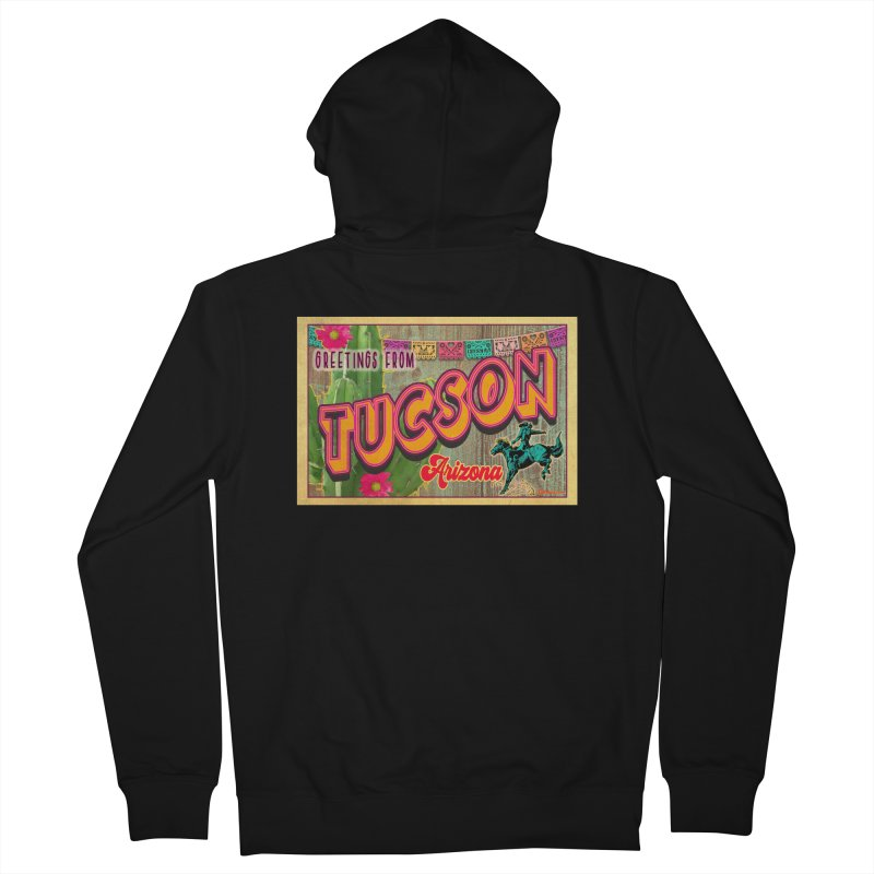 Tucson, Arizona Men's French Terry Zip-Up Hoody by Nuttshaw Studios