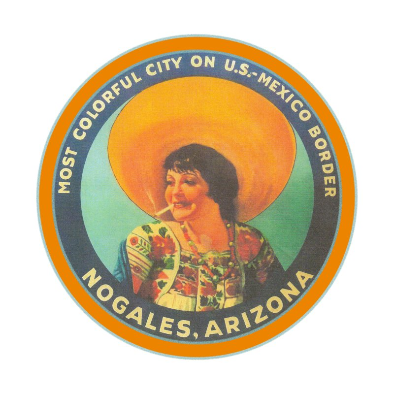 Colorful Nogales, Arizona Accessories Sticker by Nuttshaw Studios