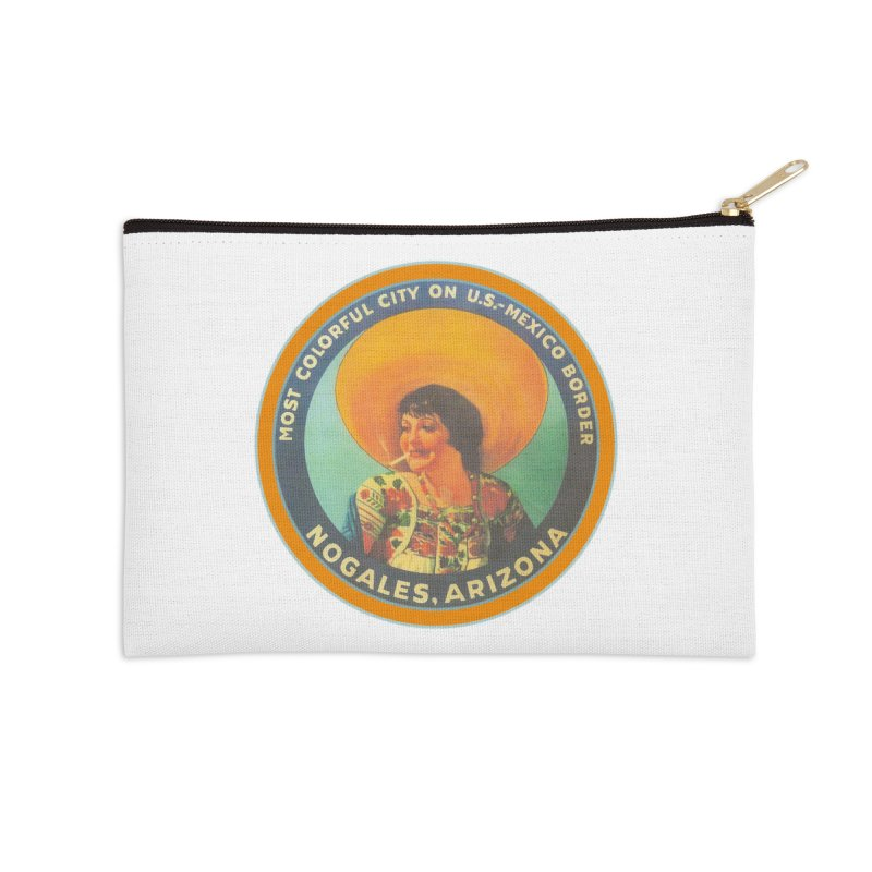 Colorful Nogales, Arizona Accessories Zip Pouch by Nuttshaw Studios