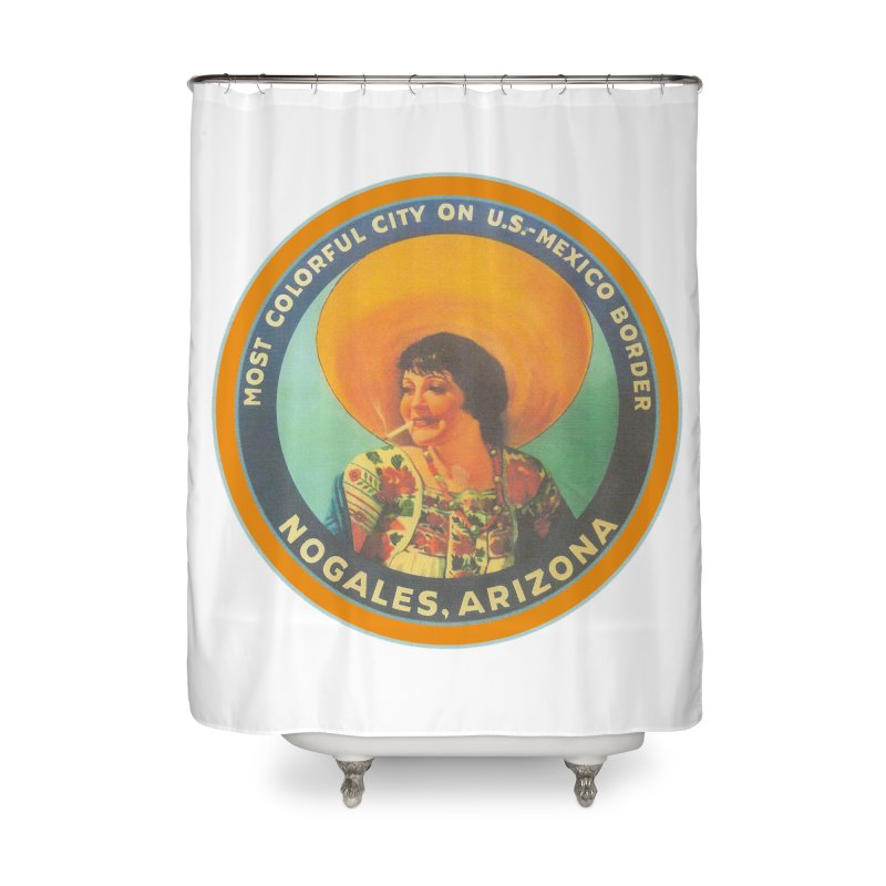 Colorful Nogales, Arizona Home Shower Curtain by Nuttshaw Studios