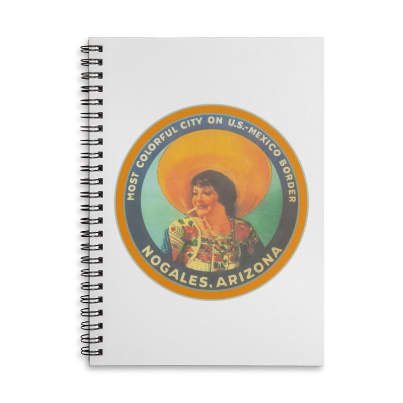 Colorful Nogales, Arizona Accessories Lined Spiral Notebook by Nuttshaw Studios