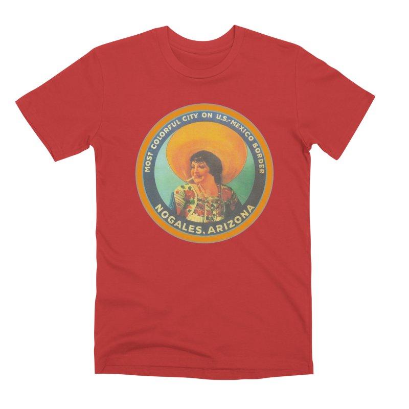Colorful Nogales, Arizona Men's Premium T-Shirt by Nuttshaw Studios