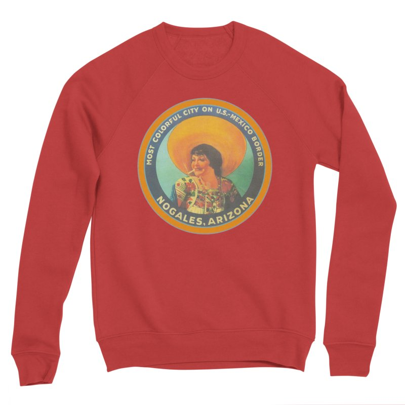 Colorful Nogales, Arizona Men's Sponge Fleece Sweatshirt by Nuttshaw Studios