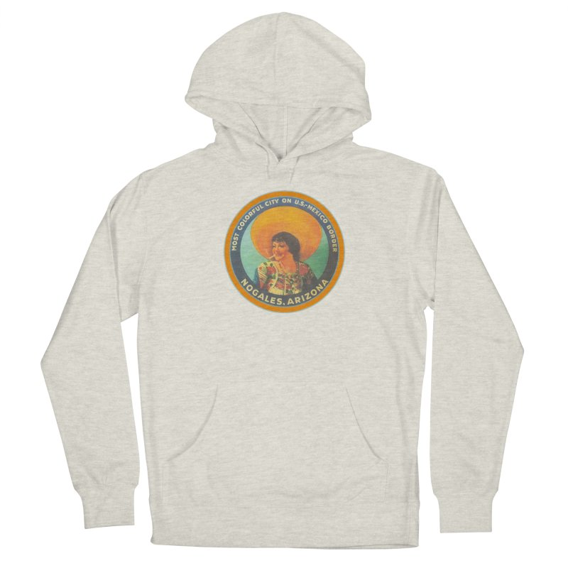 Colorful Nogales, Arizona Men's French Terry Pullover Hoody by Nuttshaw Studios