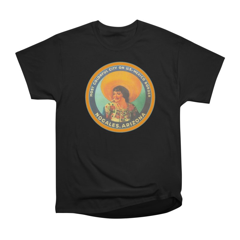 Colorful Nogales, Arizona Women's Heavyweight Unisex T-Shirt by Nuttshaw Studios