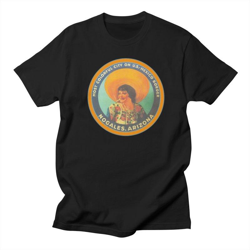 Colorful Nogales, Arizona Men's Regular T-Shirt by Nuttshaw Studios