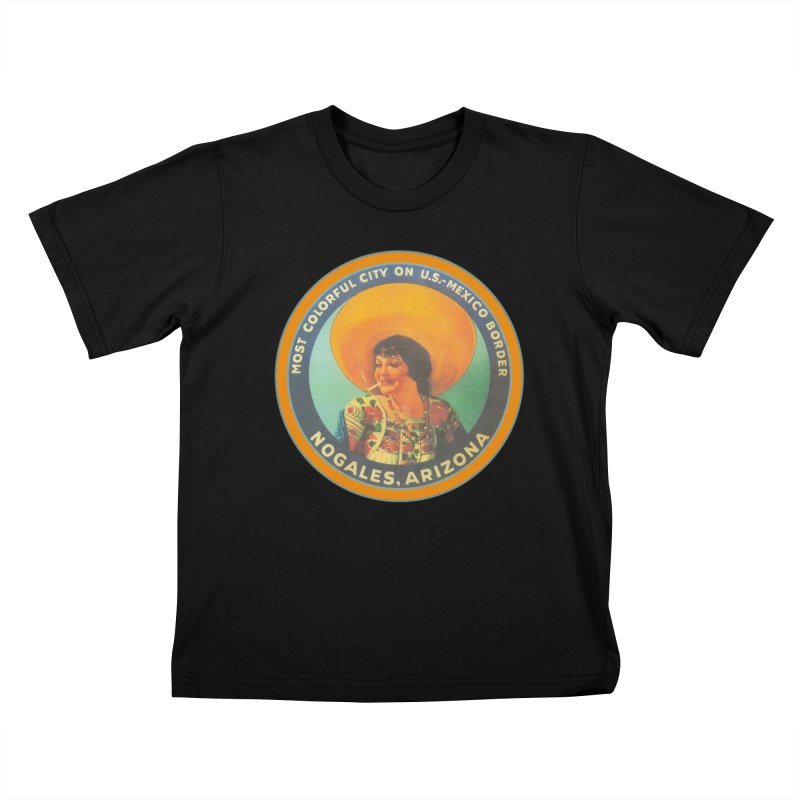 Colorful Nogales, Arizona Kids T-Shirt by Nuttshaw Studios