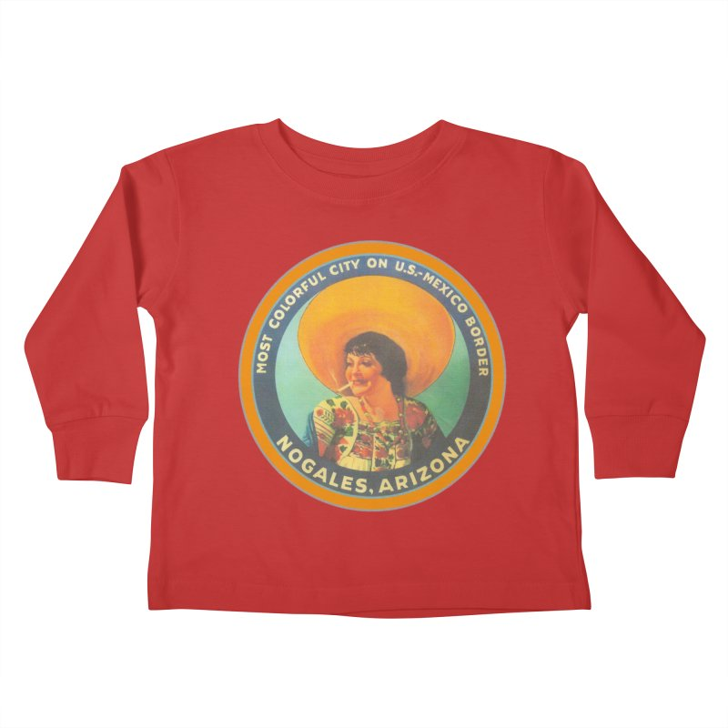 Colorful Nogales, Arizona Kids Toddler Longsleeve T-Shirt by Nuttshaw Studios