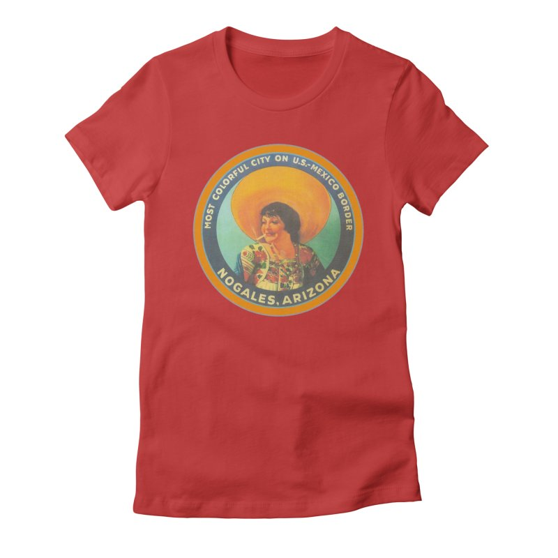 Colorful Nogales, Arizona Women's T-Shirt by Nuttshaw Studios