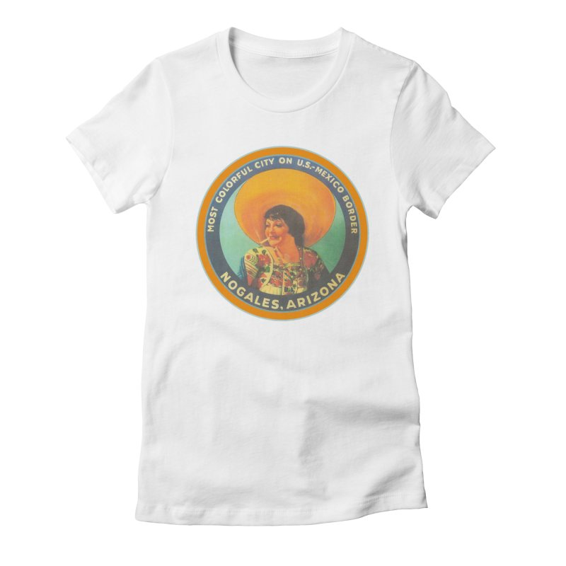 Colorful Nogales, Arizona Women's Fitted T-Shirt by Nuttshaw Studios