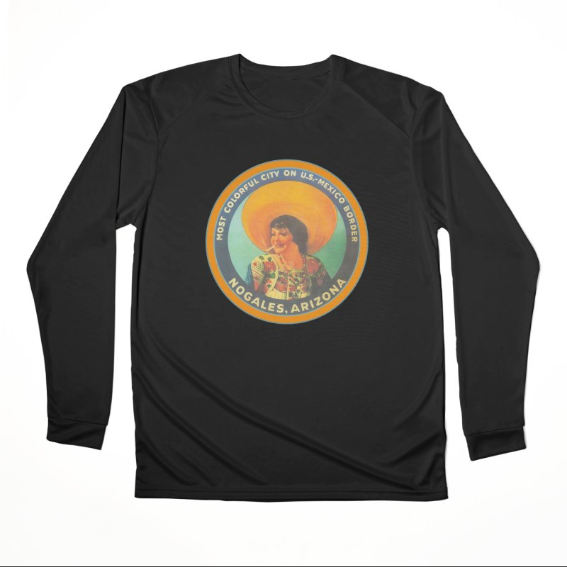 Colorful Nogales, Arizona Women's Longsleeve T-Shirt by Nuttshaw Studios