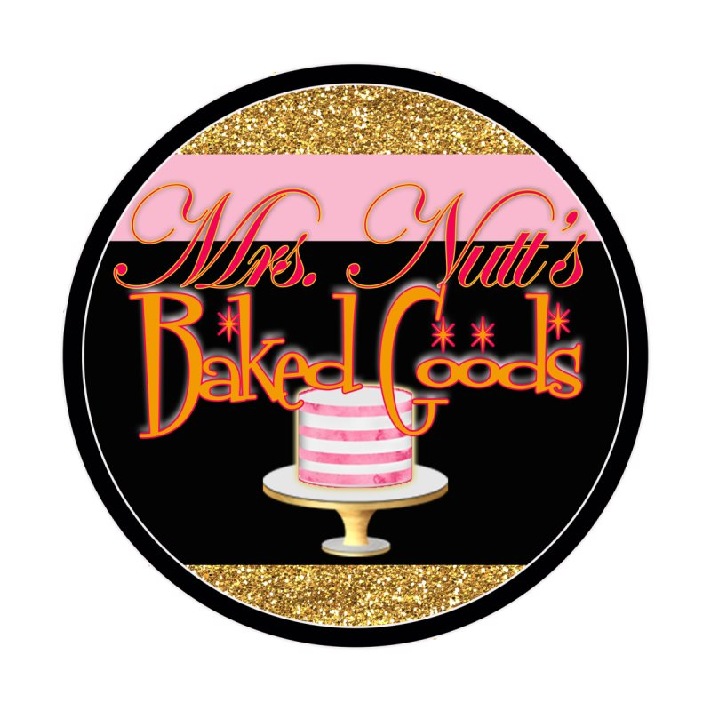 Mrs. Nutt's Baked Goods round Accessories Bag by Nuttshaw Studios