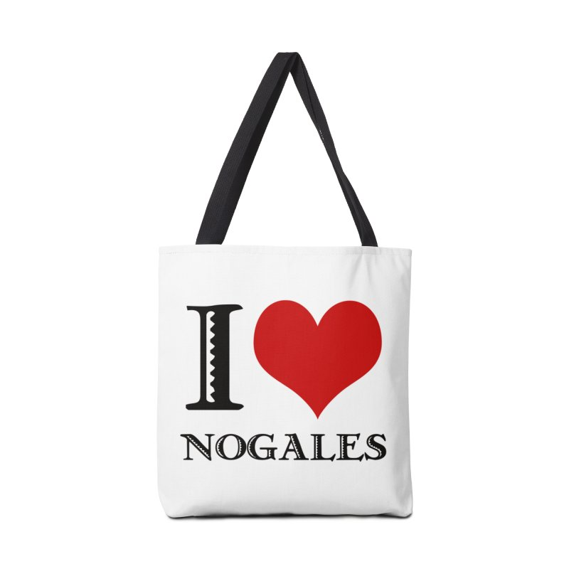 I Love Nogales (heart) Accessories Bag by Nuttshaw Studios